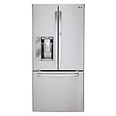 24 cu. ft. Door-in-Door French Door Refrigerator with Slim SpacePlus Ice System in Stainless Steel