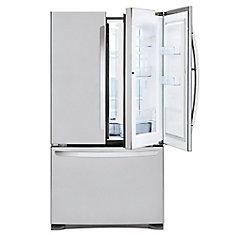 Réfrigérateur à porte d'entrée avec congélateur inférieur en acier inoxydable de 33 po W 25 pi3 - ENERGY STAR®