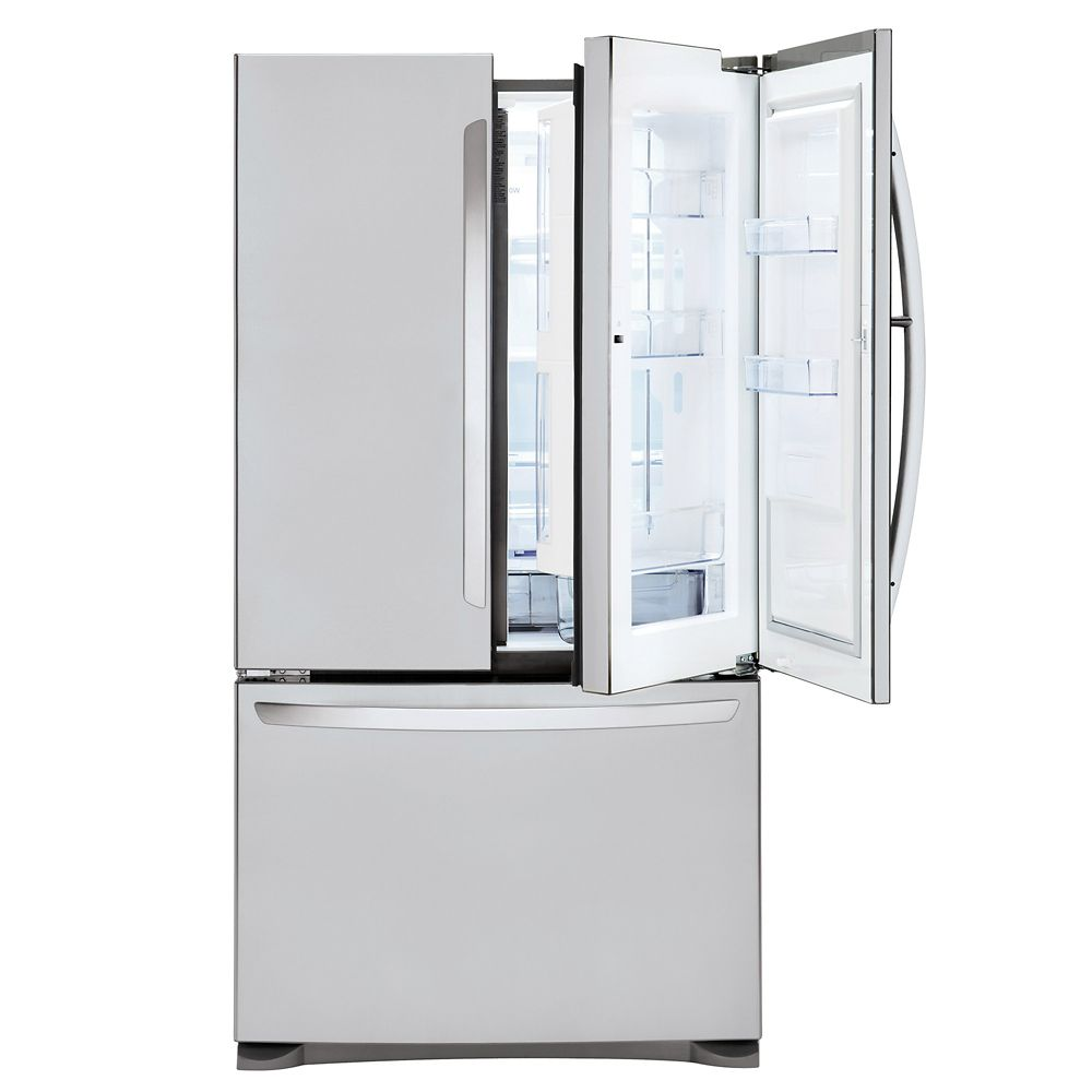 LG Electronics 33-inch W 25 cu. ft. Door-In-Door Refrigerator with Bottom Freezer and Smart Cooling Plus in Stainless Steel - ENERGY STAR®