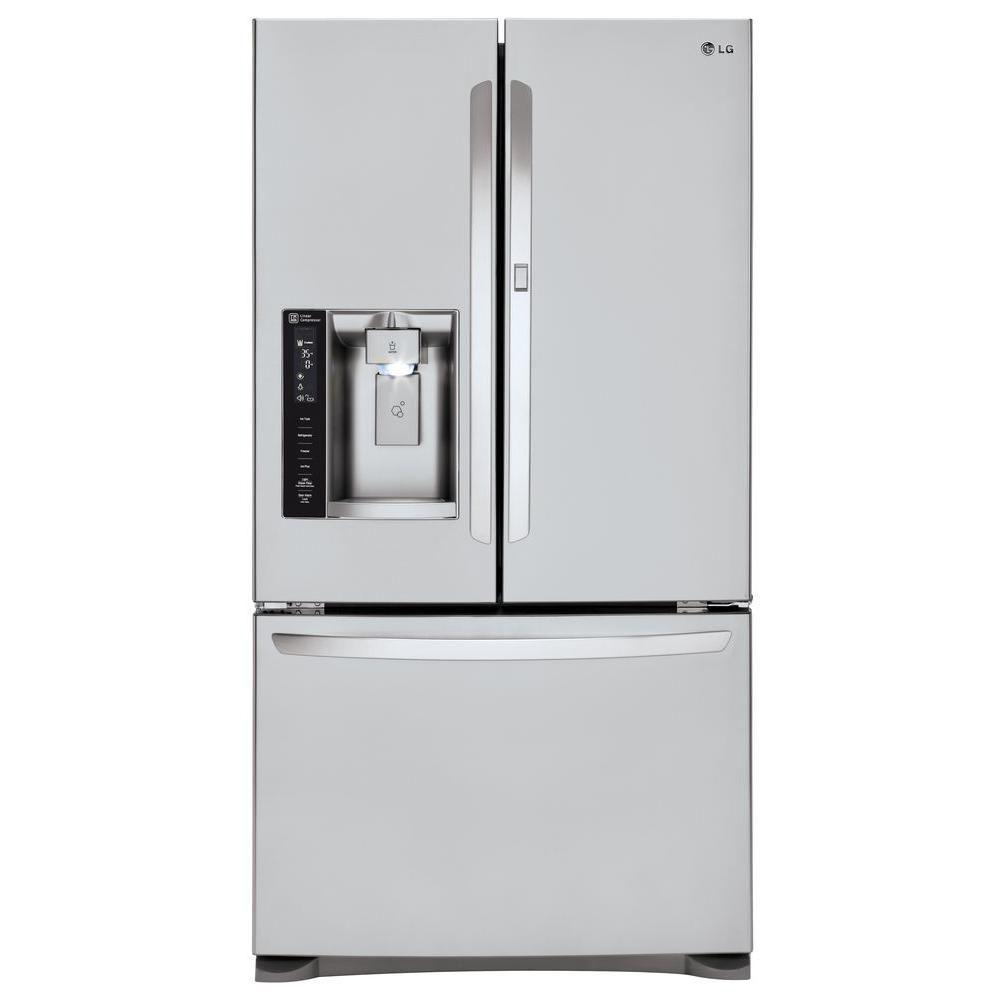 24 cu. ft. Door-in-Door French Door Refrigerator with Slim SpacePlus Ice System in Stainless Stee...