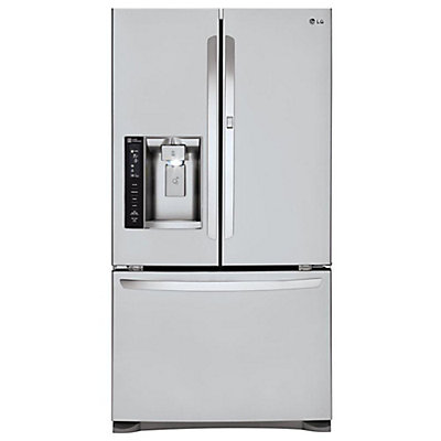 door french ft drawer star usappliance depth cu stainless counter refrigerator steel energy lg