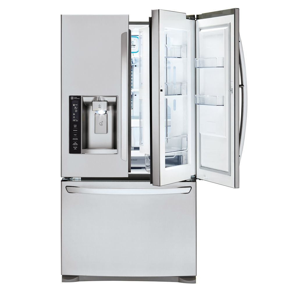 27 cu. ft. Door-in-Door French Door Refrigerator with Slim SpacePlus Ice System in Stainless Stee...