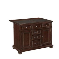Home Styles Colonial Classic Kitchen Island w/ Granite Top