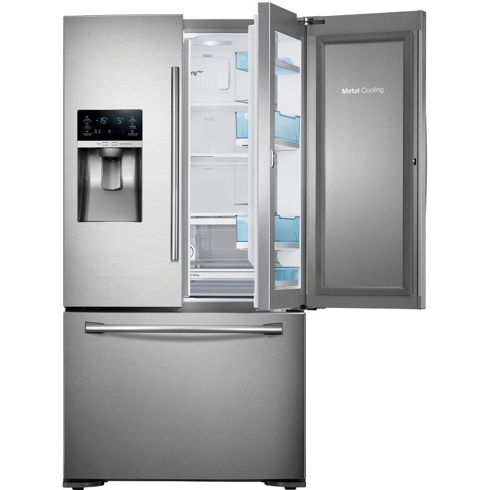 23 cu. ft. Counter-Depth French Door Refrigerator in Stainless Steel