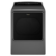 Cabrio 8.8 cu. ft. High Efficiency Electric Steam Dryer in Chrome Shadow