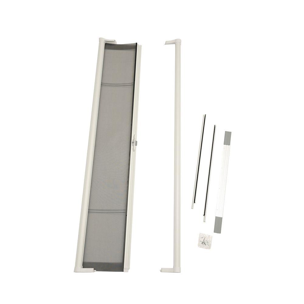 Knape vogt door mounted white spice rack single pack 7 for Single sliding screen door
