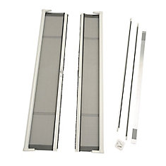 Brisa White Double Retractable Screen Door Single Pack