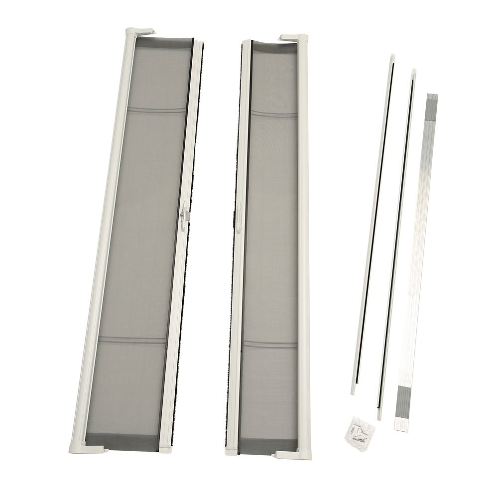 Brisa White Double Retractable Screen Door Single Pack