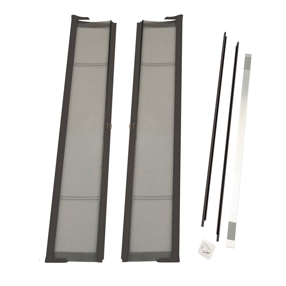 Brisa Bronze Double Retractable Screen Door Single Pack