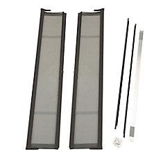 Brisa Bronze Double Retractable Screen Door
