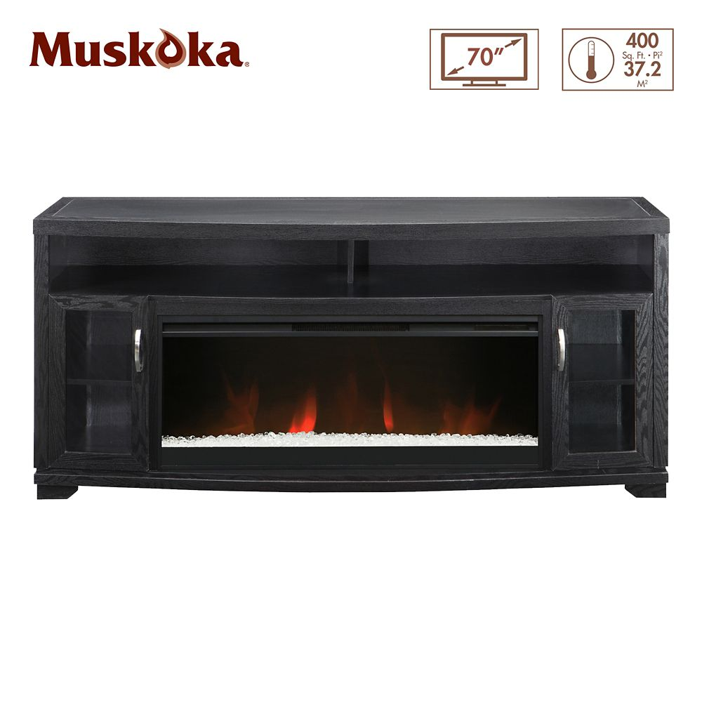 muskoka 42 inch widescreen electric fireplace media