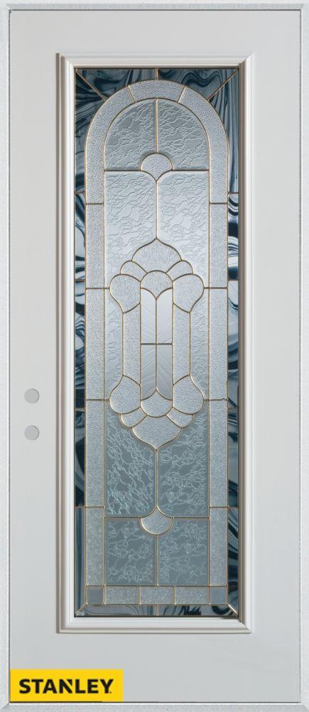 doors traditional full lite white 32 in x 80 in steel entry door