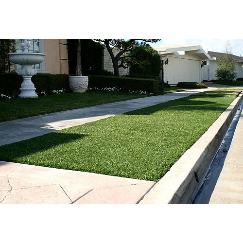 Greenline Classic 54 Fescue 5 ft. x 10 ft. Artificial Grass for Outdoor Landscape