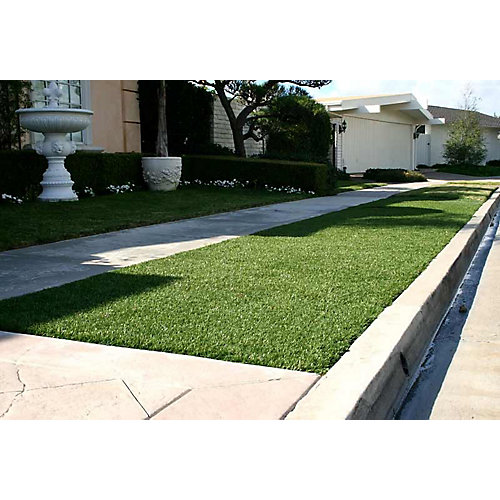 Classic 54 Fescue 3 ft. x 8 ft. Artificial Grass for Outdoor Landscape
