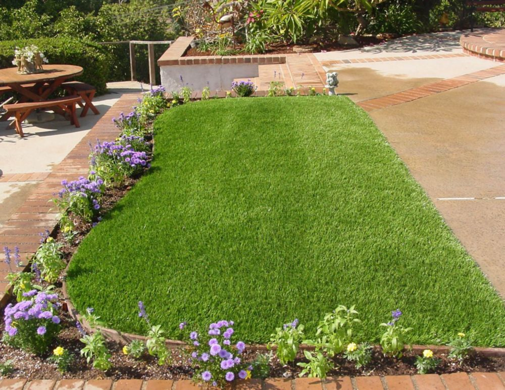 Greenline Classic 54 Spring 15 ft. x 25 ft. Artificial Grass for Outdoor Landscape