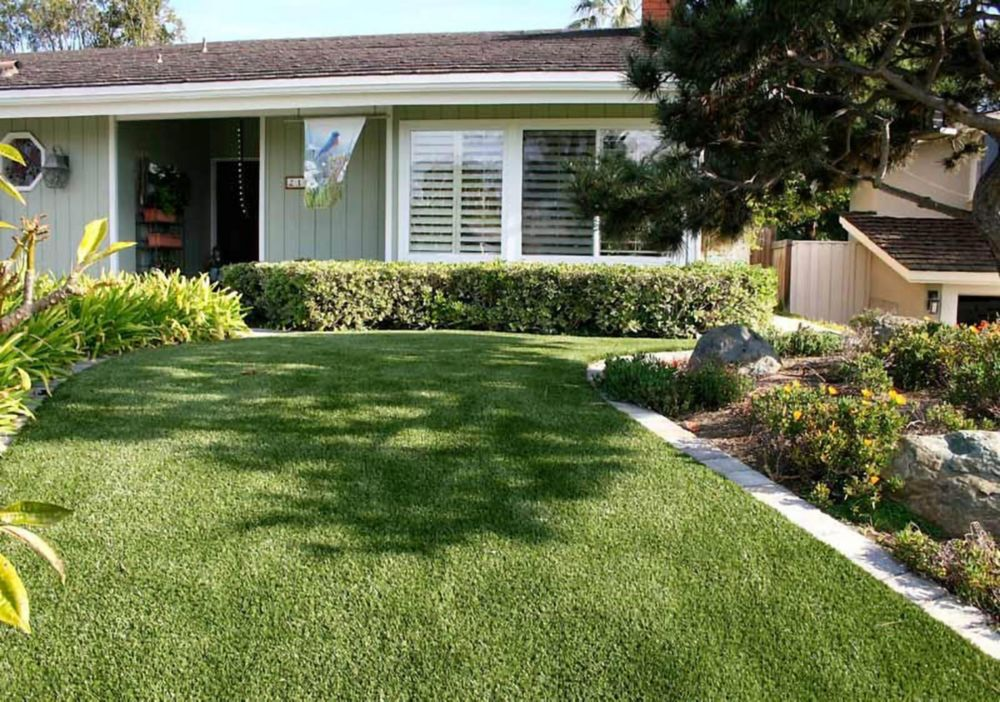 Classic Premium 65 Spring 15 ft. x 25 ft. Artificial Grass for Outdoor Landscape