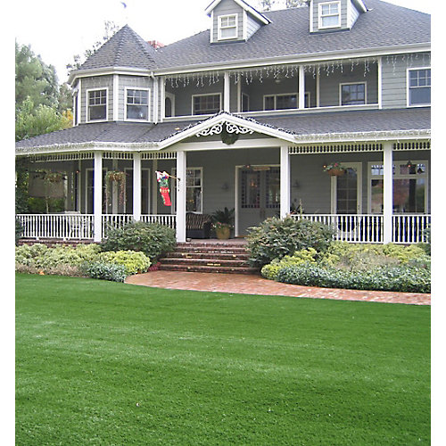 Classic Pro 82 Spring 15 ft. x 25 ft. Artificial Grass for Outdoor Landscape