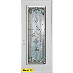 Stanley Doors Porte dentrée en acier préfini blanc, munie d'un panneau de verre patina, 36 po x 80 po - Droite - ENERGY STAR®
