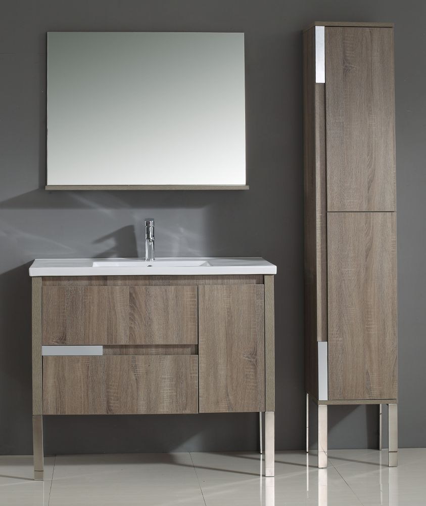 Idra 40-inch W Vanity with Ceramic Basin