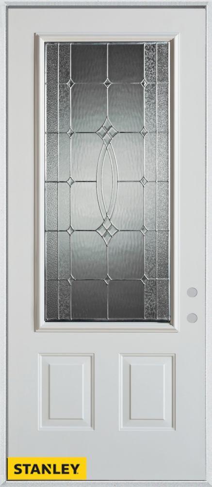 stanley doors 34 inch x 80 inch diamanti classic zinc 3 4 lite 2 panel