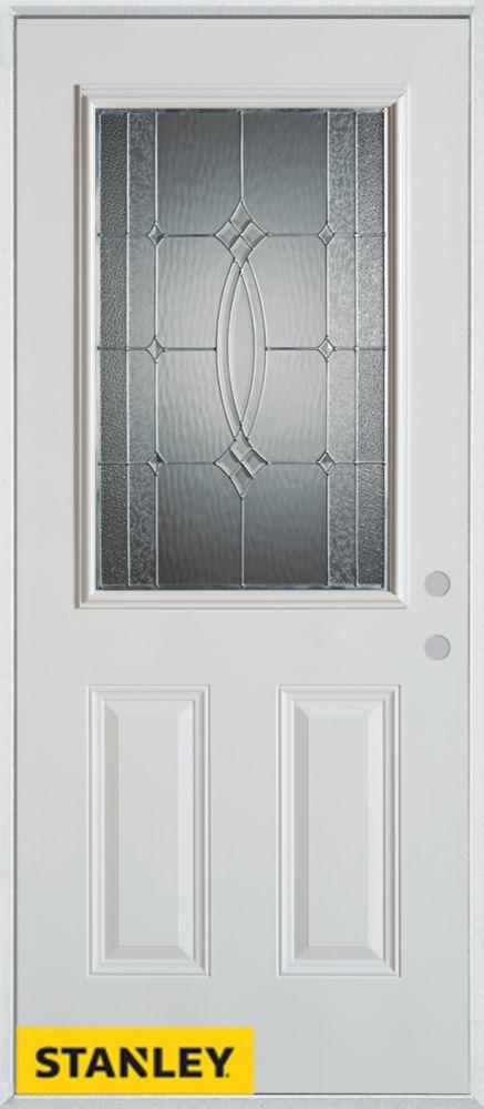 stanley doors 34 inch x 80 inch diamanti classic zinc 1 2 lite 2 panel