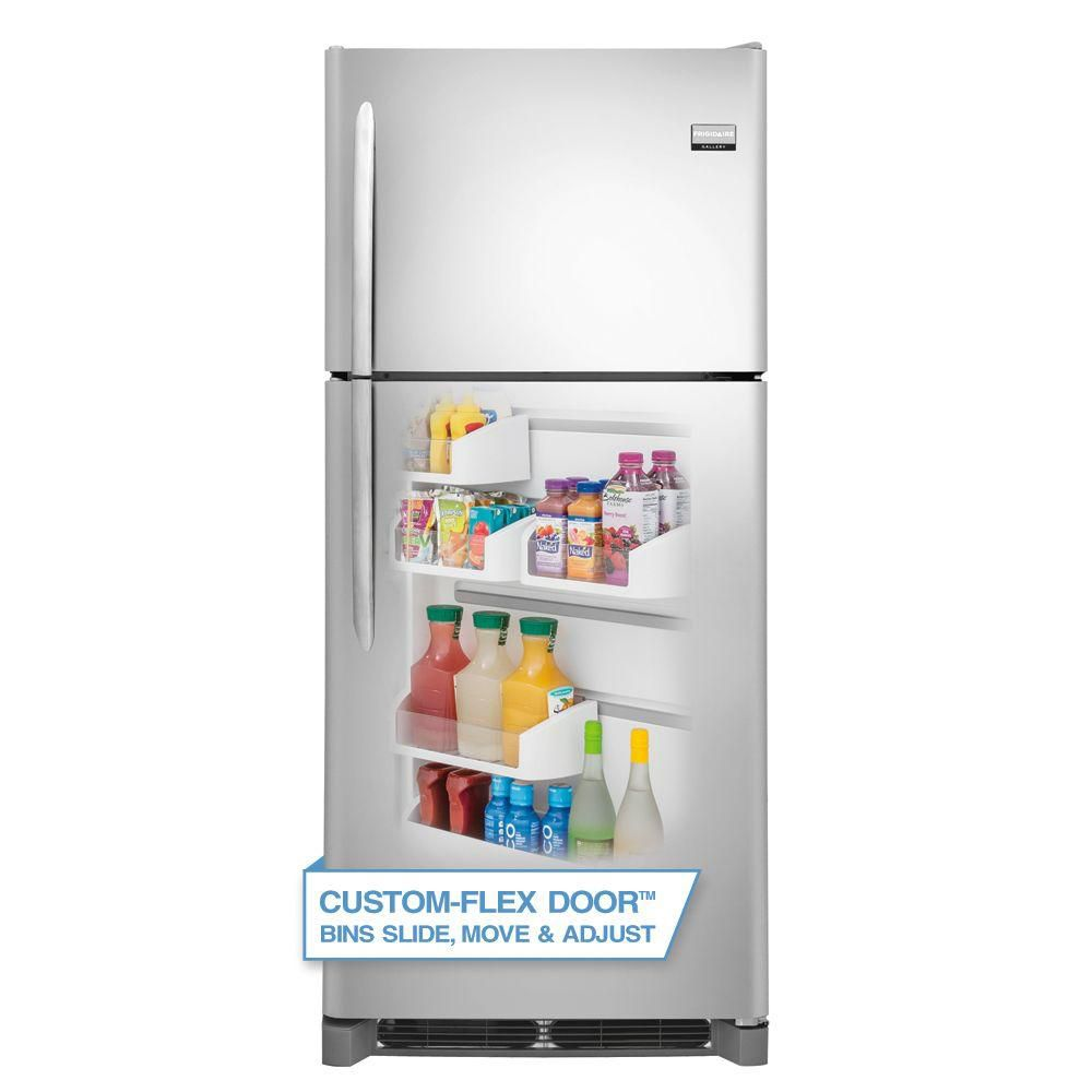 Gallery 20.4 cu. ft. Top Freezer Refrigerator in Stainless Steel