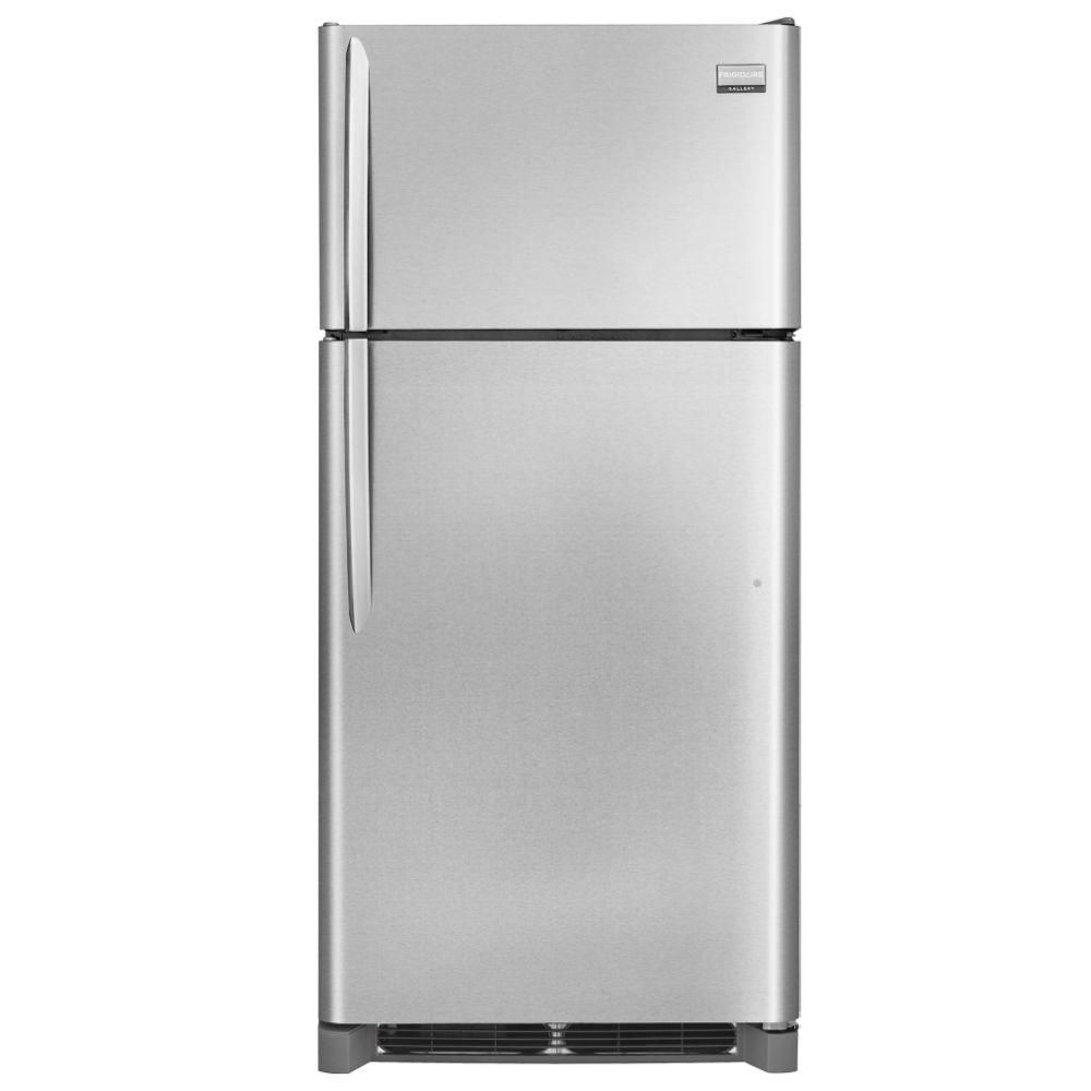 Gallery 18 cu. ft. Top Freezer Refrigerator in Stainless Steel