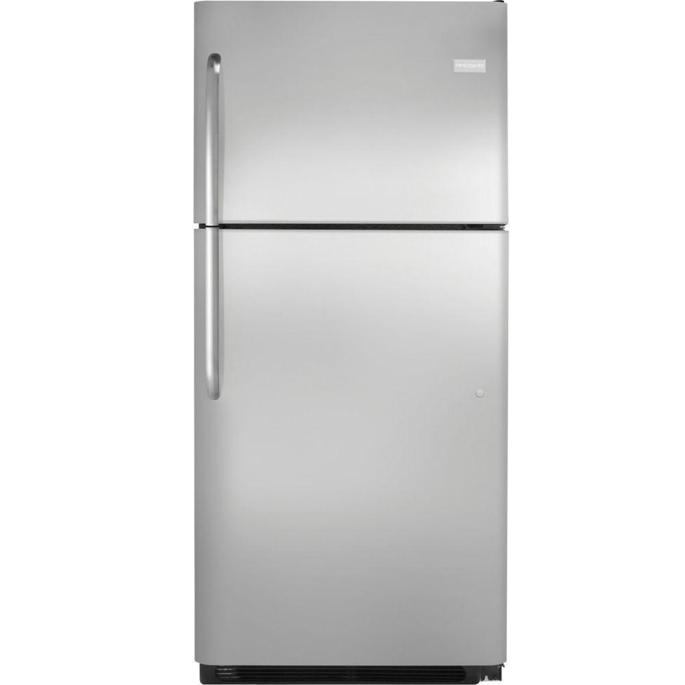 20.5 cu. ft. Top Freezer Refrigerator in Stainless Steel