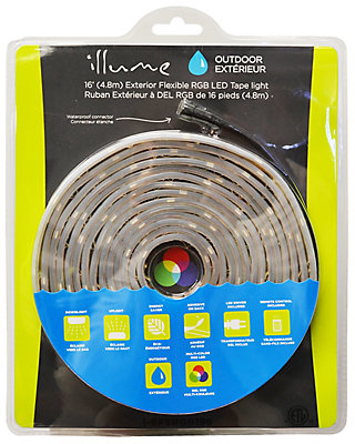 Illume 5 meter outdoor rgb led tape kit the home depot canada aloadofball Image collections