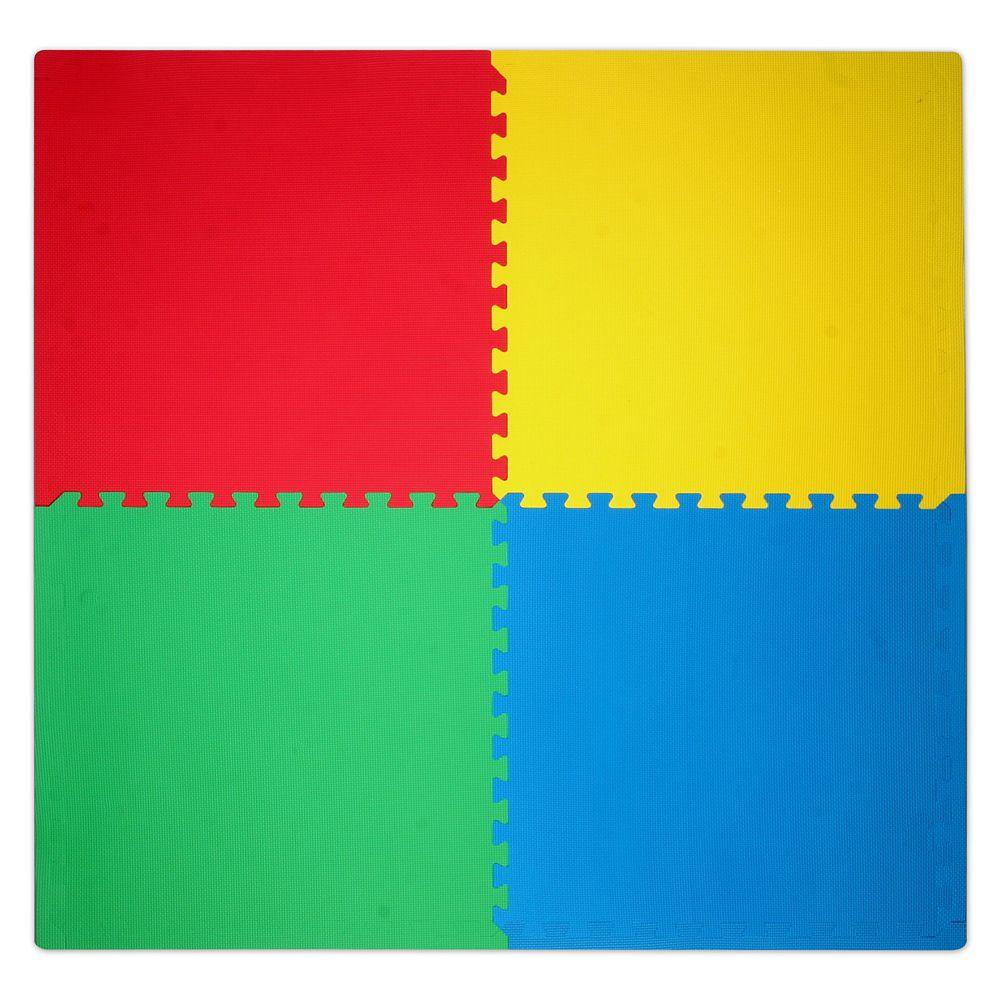 Paquet de 4 carreaux de sol pour plancher d'activites
