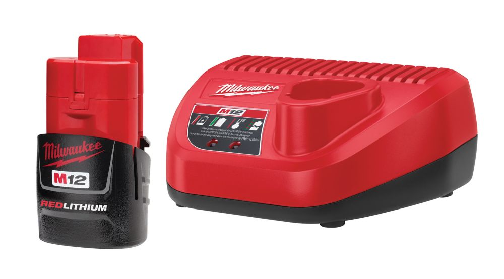 Milwaukee Tool M12 RedLithium 12V Lithium-Ion Battery with Charger