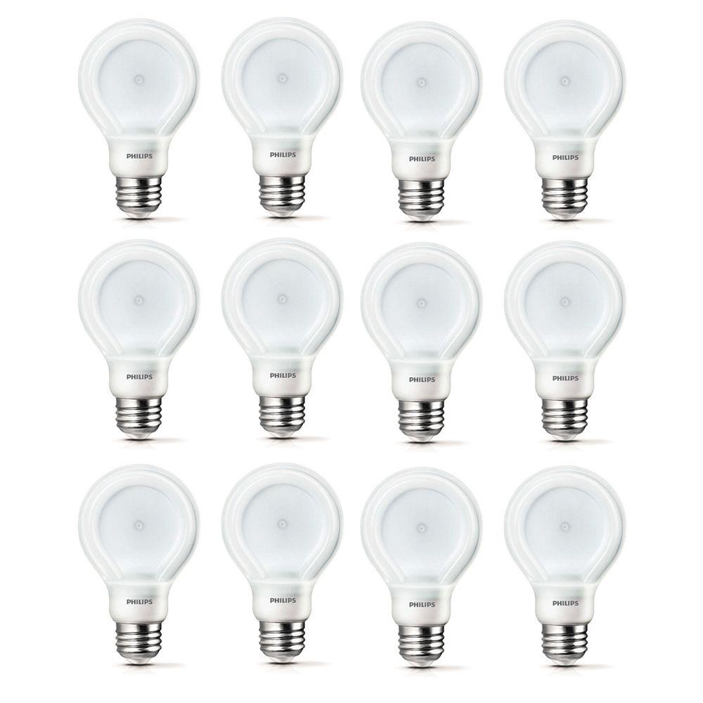 DEL SlimStyle 10.5W = 60W blanc doux (2700K) A19 - Cas de 12 Ampoules