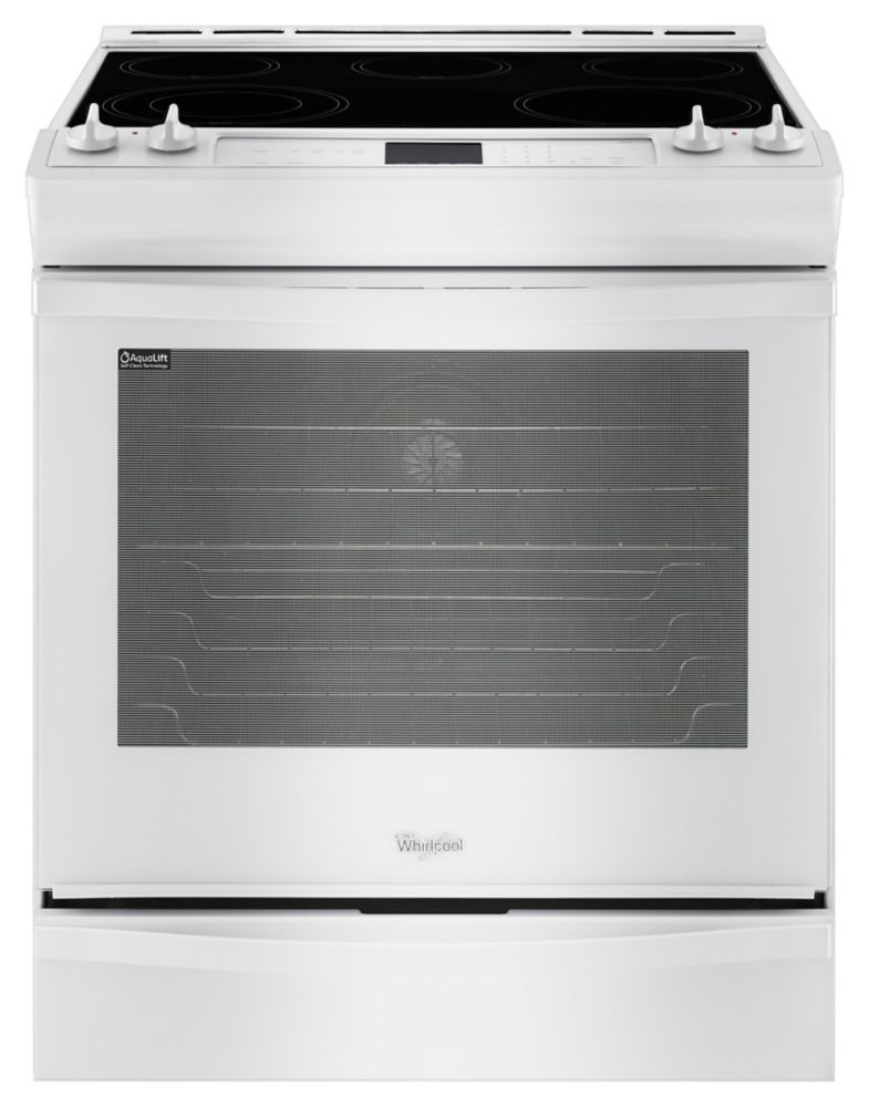 6.2 cu. ft. Slide-in Electric Range with TimeSavor� Plus True Convection in White