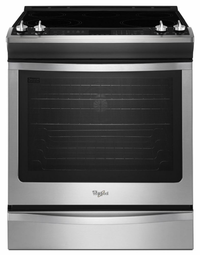 6.2 cu. ft. Slide-in Electric Range with TimeSavor� Plus True Convection in Stainless Steel
