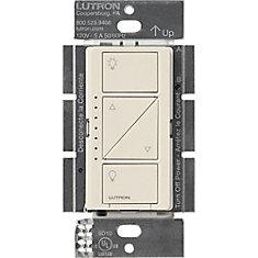 Caseta Wireless Smart Lighting Dimmer Switch for Wall & Ceiling Lights, Light Almond
