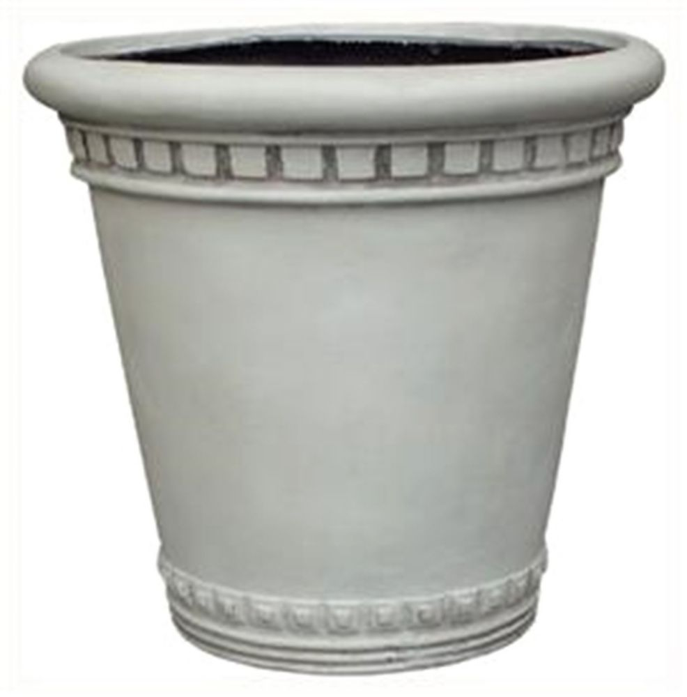 Fiberglass Pot, Antique White - 14 inches MK-F984-12 WHITE Canada Discount