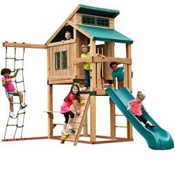 Swing-N-Slide Hideaway Clubhouse Playset with Slide