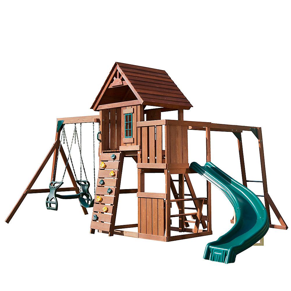 Cedarbrook Solid Wood Complete Playset