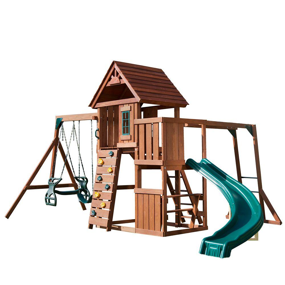 Swing-N-Slide CedarBrook Solid Wood Complete Playset