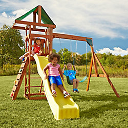 Swing-N-Slide Structure de jeu complète en bois Scrambler