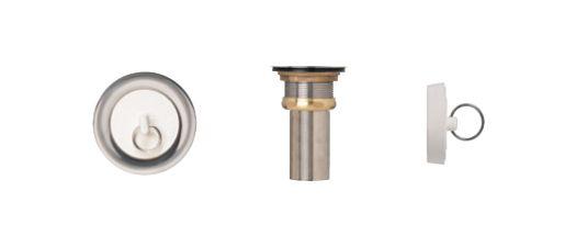 Duplex Waste With Rubber Stop. T304 SS, Brass Locknut, 2 5/8 Inch Brass Tailpiece
