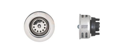 Junior Basket - Bar Sink Strainer. T304 SS, Brass Locknut, 2 5/8 Inch Brass Tailpiece