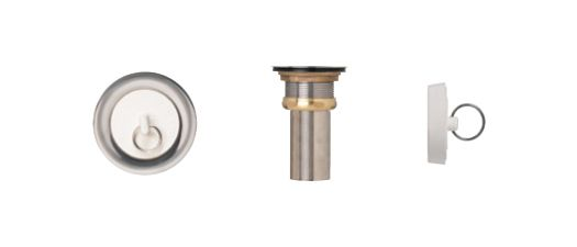 Duplex Waste With Rubber Stop. T316 SS, Brass Locknut, 2 5/8 Inch SS Tailpiece