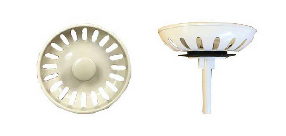 Coloured Plastic Strainer - Gravity Seal Basket. Almond