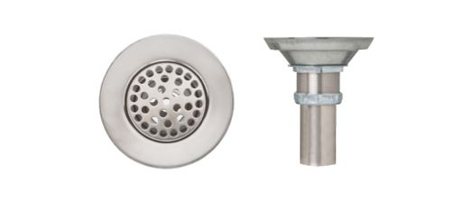 Supreme Metal Products Vandal-Proof Grid Strainer.T304 SS, SS Hex Screw, Trivalent Zinc Coated Locknut, 4 Inch SS Tailpiece
