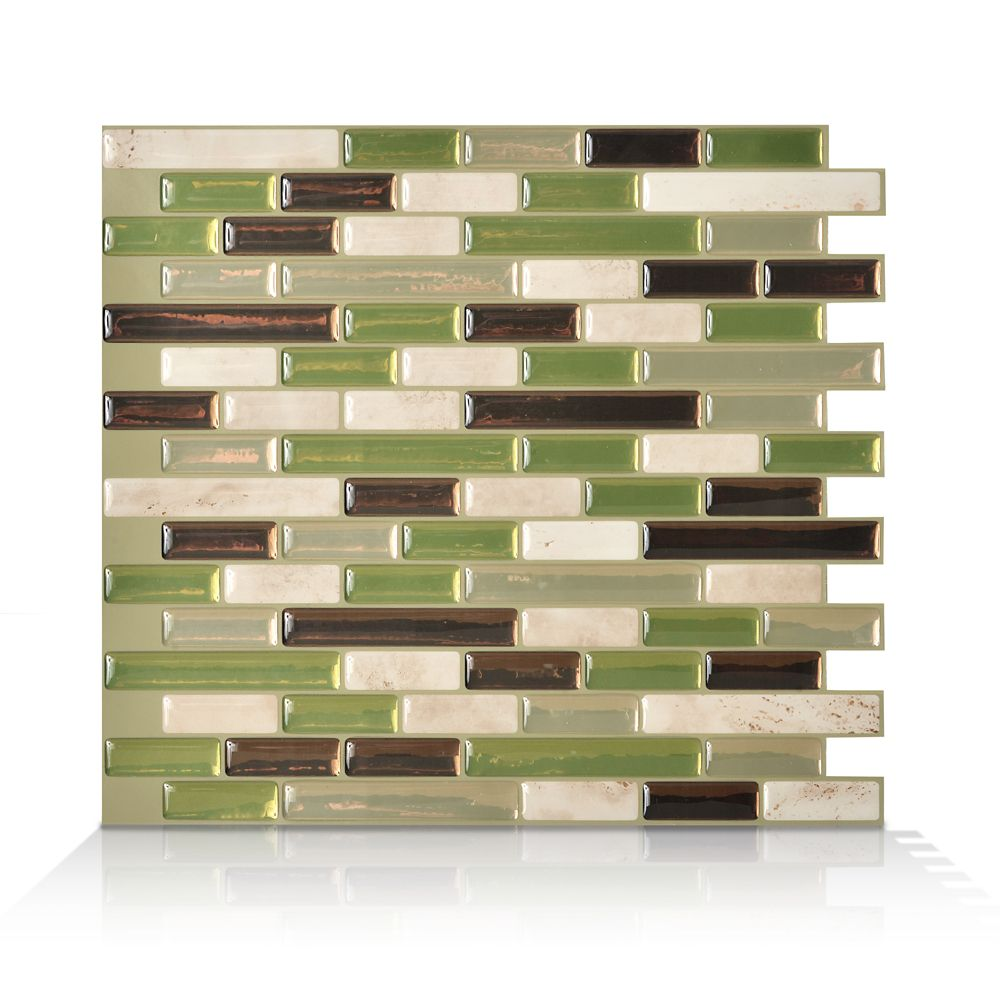 6 - Pieces 10,06  Inch. X 10  Inch. Peel And Stick Eco Mosaik