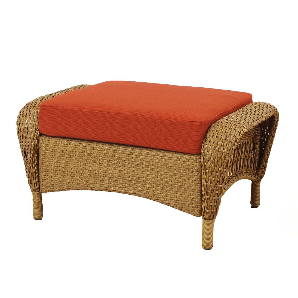 Charlottetown Natural Ottoman With Quarry Red Cushions 65 909556 2 Canada Discount