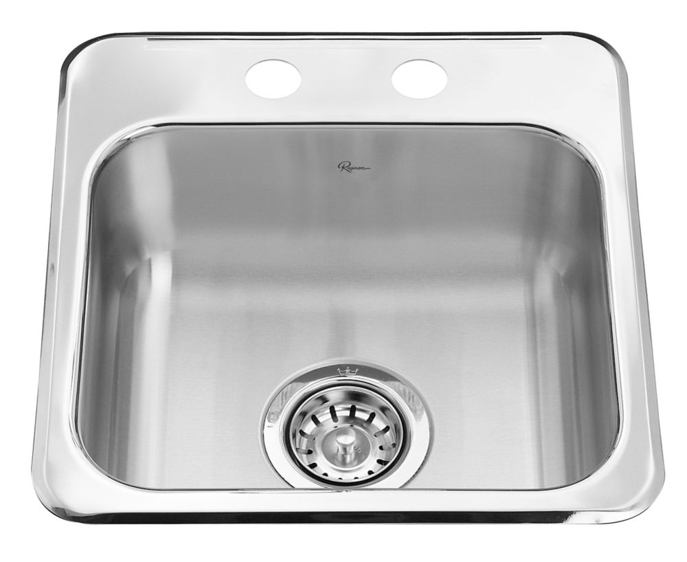 stainless steel bathroom sinks canada stainless steel single bar sink 15 x 15 x 6 in 24263