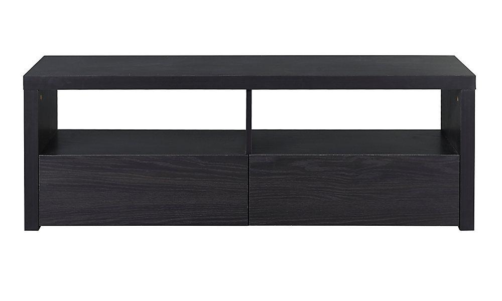 Desco Collection 2-Drawer Laminate TV Stand In Espresso