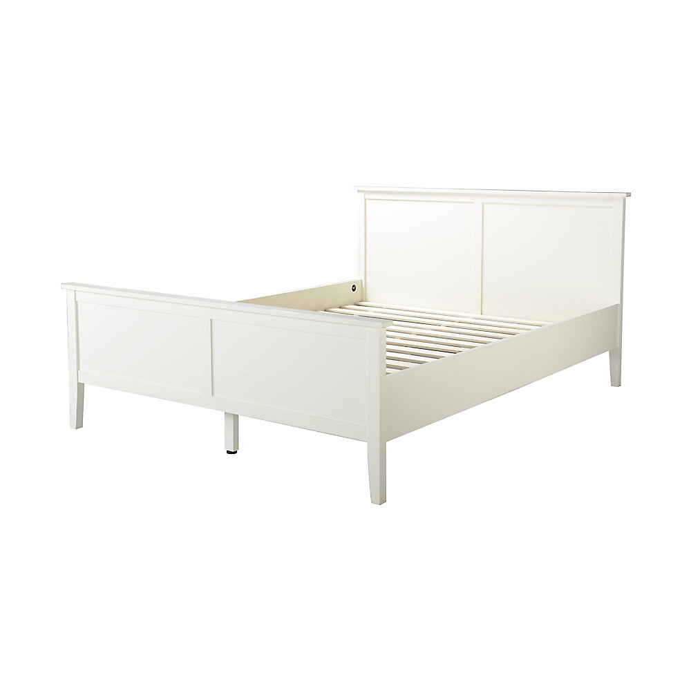 Dellys Collection Queen Bed Frame In White